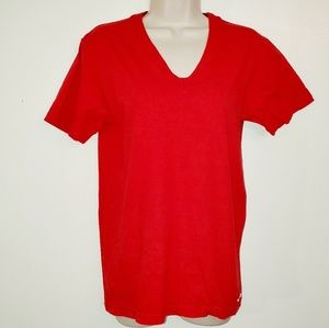 American Apparel tshirt mustache  red womans